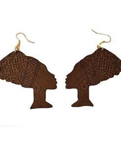 Queen Nefertiti Earrings ★ Natural Hair Earrings ★ African American Woman Earring ★ African Jewelry