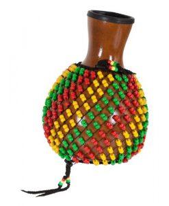X8 Drums X8-SHEKERE-FIB-GD-RB Fiberglass Shekere Rasta Beads