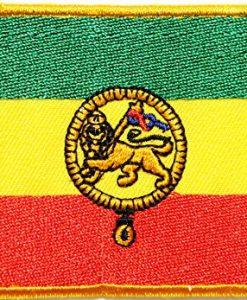 African Flag The Lion of Judah Rasta Rastafari Jamaica Reggae Logo Jacket T shirt Patch Sew Iron on Embroidered Badge Sign Costume