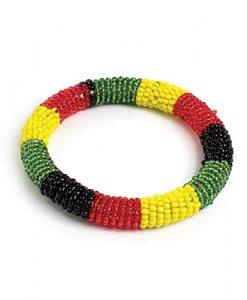 Maasai Beaded Bracelet - Round Rasta- per one: bracelet, bead, wrist