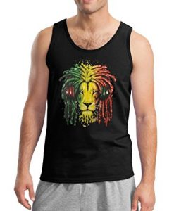 Rasta Lion with Dreads and Headphones Tank Top