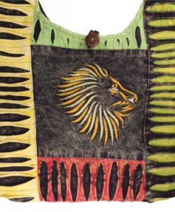 Boehmian Rasta Lion Crossbody or Shoulder Purse Handmade in Nepal Fair Trade By Ragged Ends