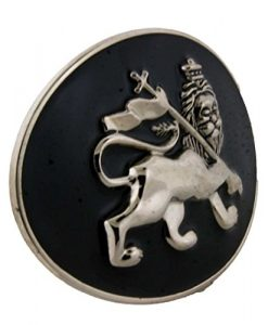 Letter Love Fashion Reggae Rastafarian Lion Judah Logo Silver Belt Buckle Tribal Gothic (Closeout)