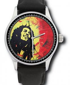 Spectacular Colorburst Bob Marley Rastafarian Rasta Pop Art Collectible Gigantic 44 mm Wrist Watch