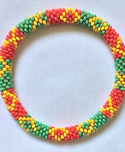 Beaded Bracelets Rasta Color (Set of 6)