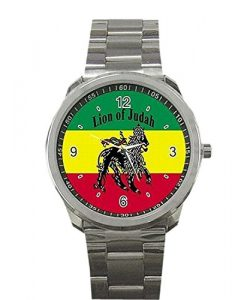 New Wrist watches XBBL097 Rasta Jamaica Lion Jamaican Rare Metal Sports Watch New