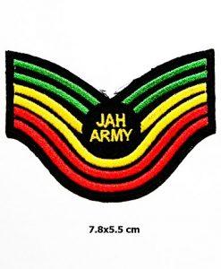 JAH Army Military the Lion of Judah Rasta Rastasafari Jamaica Reggae Logo Vest Jacket Hat Hoodie Backpack Patch Iron On