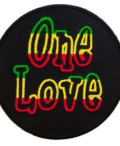 One Love Rastafarian Rasta Reggae Clothing or Gear Iron on Patch D6