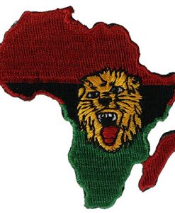 Africa Continent Lion's Head 2.5 inch hat cap shirt patch PPMafricalion