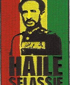Haile Selassie - Rasta Tri Color - Embroidered Iron On or Sew On Patch