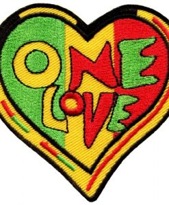 One Love Rasta Judah Flag Reggae Retro Weed Pot Applique Iron-on Patch S-305 Cool Patch Iron On