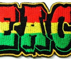 Peace Sign Patches Flag of Judah Hippie Pot Reggae Rasta Embroidered Iron on Patches 8.5x3.5 Cm