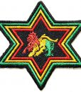 Star Army Military The Lion of Judah Rasta Rastafari Jamaica Reggae Logo Jacket T shirt Patch Sew Iron on Embroidered Badge Sign Costume