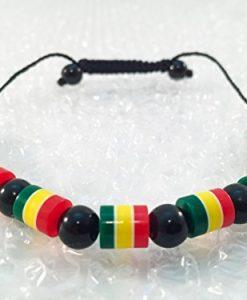 Rasta Reggae Adjustable Bracelet Hand Made in Gambia West Africa