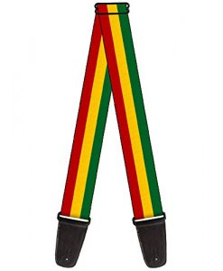 Nylon Guitar Strap - Rasta Reggae Lion Head Design