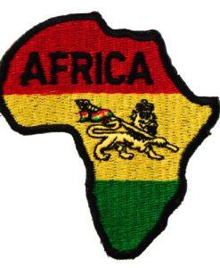 Africa Rastafarian Rasta Colors Reggae Lion Judah Clothing or Gear Iron on Patch D35