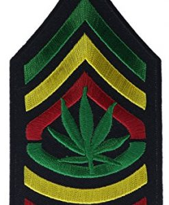 Chevron Cannabis Pot Leaf Africa Patch 4 1/2 inch Patch NOVP658