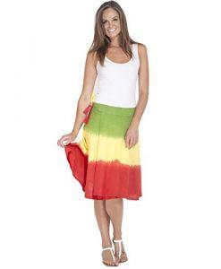 Women's Reggae Rasta Tie Dye Wrap Around Skirt-rasta-one Size