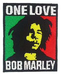 Bob Marley One Love Rasta Color Embroidered Iron on Patches