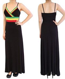 POPLife Rasta Empress Reggae Spaghetti Strap Maxi Long Dress Size S M L HRA15074
