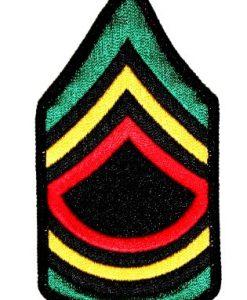 Rasta Rastafari Jamaican Army Military Police Stripes Iron On Applique Patch