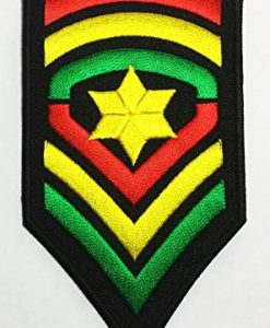 Military Army Rank Costume Rasta Jah Reggae Fashion DIY Applique Embroidered Sew Iron on Patch p#171