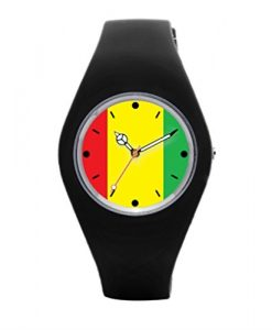 TimetoShine Womens Wrist Watch Rasta Color Rasta Fashion Womens Wrist Watches