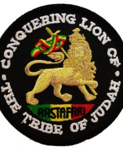 Rastafari Rastafarian Rasta Conquering Lion of the Tribe of Judah Reggae Iron on Patch D6