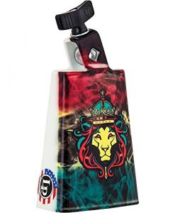 LP Black Beauty Collectabells Cowbell - Rasta Lion Smoke 5 in.