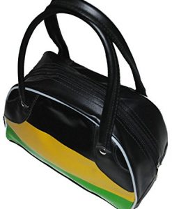 Mod 60s Ska African Rasta Jamaica Reggae Black Green Yellow Vegan Handbag Purse