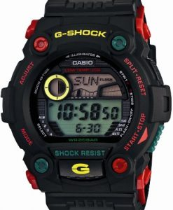 Casio G-Shock Rescue Black Red Green Rastafarian Rasta Mens Watch G7900RF-1