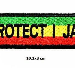 Protect I JAH Army Lion of Judah Rasta Rastafari Jamaica Africa Reggae Logo Vest Jacket Hat Hoodie Backpack Patch Iron On