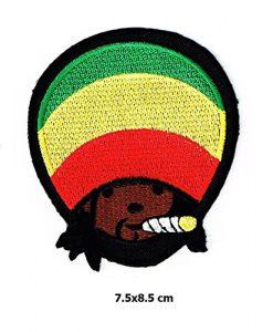 Bob Marley Music Reggae Ska Patch Metal Punk Hip Hop Band Logo Vest Jacket Hat Hoodie Backpack Patch Iron On
