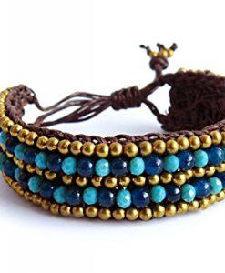 Turquoise Stone Beaded Wrap Bracelet