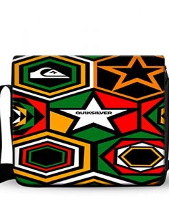 Quiksilver Rasta Regae Stickerbomb Custom Messenger Bag