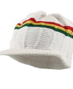 New Rasta 93 RGY Visor Hat - White RGY