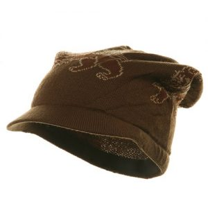 Regular Lion Rasta Beanie Visor Hat-Brown