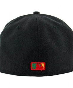 New Era 5950 San Diego Padres Rasta 2.0 Custom Fitted Hat (Black) Men's MLB Cap
