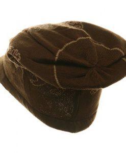 Regular Lion Rasta Beanie Visor Hat-Brown