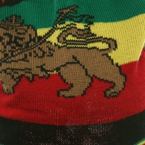 Regular Lion Rasta Beanie Visor Hat-Black RGY