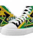 jamaican shoes rasta seed hi top cool reggae rasta sneakers