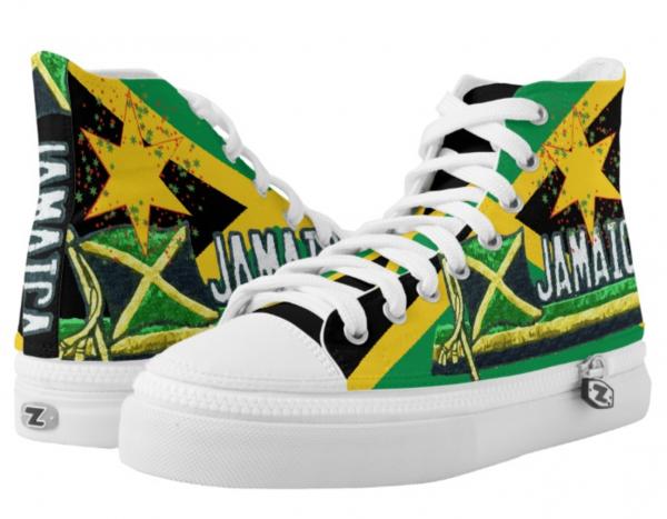 jamaican shoes rasta seed hi top cool reggae rasta sneakers