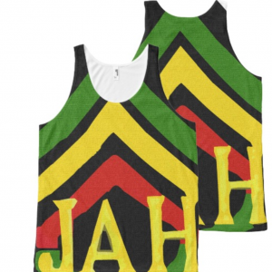 Rasta Tank Jah Singlet Design Rasta Seed Original Rastafarian Clothing and Merchandise