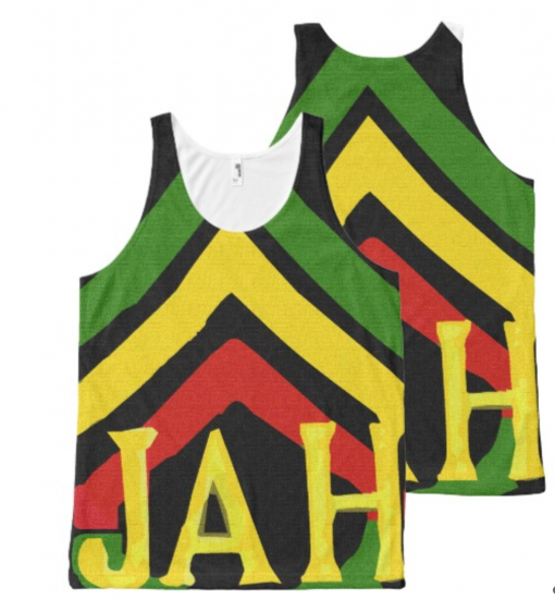 Rasta Tank Jah Singlet Design Rasta Seed Original Rastafarian Clothing and Merchandise