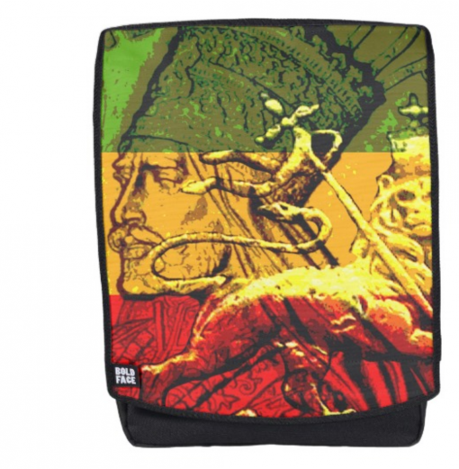 rasta all over print back pack