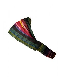 Inspirit Arts Small Headband Earth Tone Handwoven Lightweight Cotton Hair Scarf