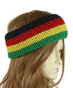 Reggae Knitted Headband Rasta Colors Head Wrap Turban