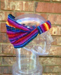 Inspirit Arts LARGE HEADBAND Rainbow Expandable Lightweight 100% Cotton Hair Scarf