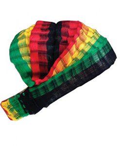 Inspirit Arts Large Reggae Headband Expandable Handwoven Bandana Hair Scarf