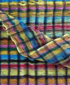 Inspirit Arts Sheer Head wrap Handwoven Lightweight Cotton Gauze-like Open Net Multi-color